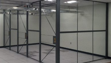 Caging and wire mesh is one of our specialties. We support data centers with colocation, security  lockers and man traps.